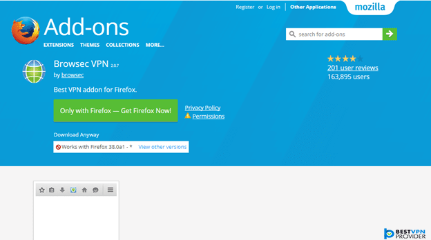 Browsec Mozilla Firefox Addon Review