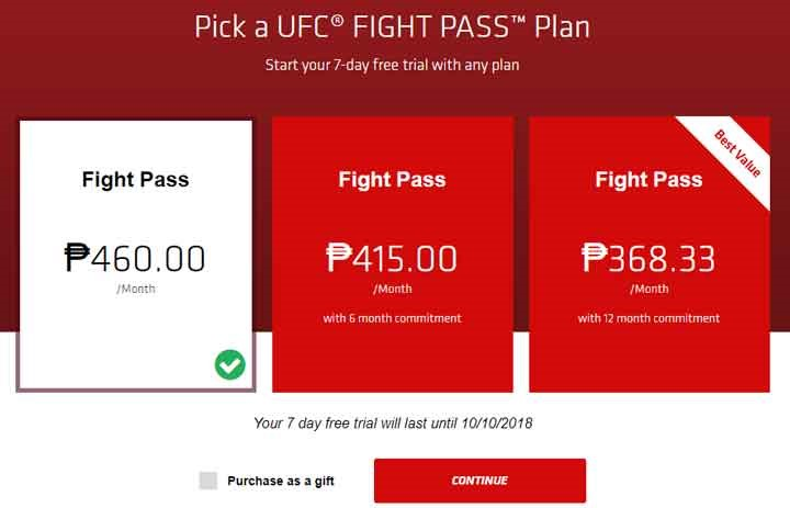 fight pass UFC Philippines