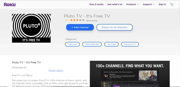 Come guardare Pluto TV su Roku