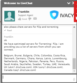 Ivacy VPN torrenting, P2P in deljenje datotek pregled