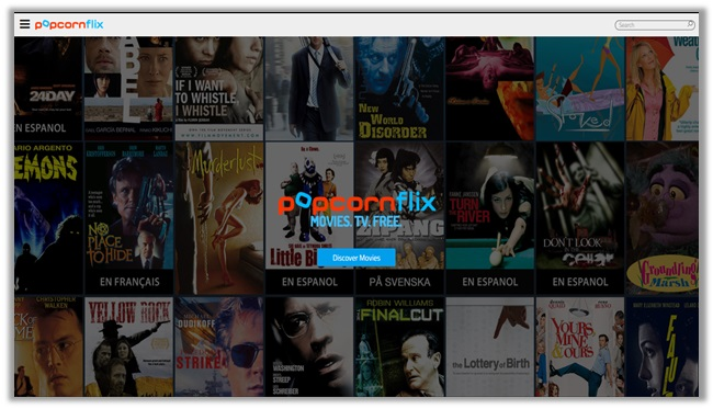 assista a filmes e programas de TV on-line com popcornflix