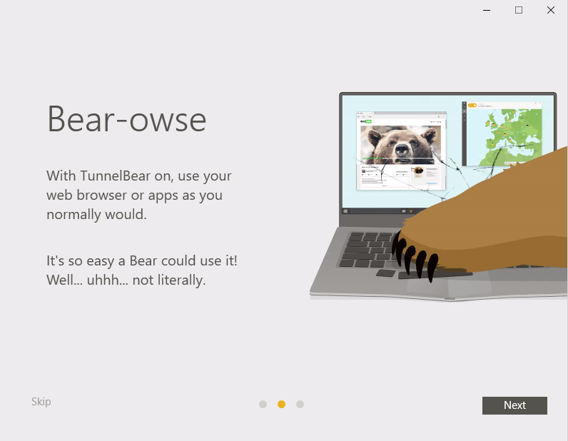 TunnelBear para Windows