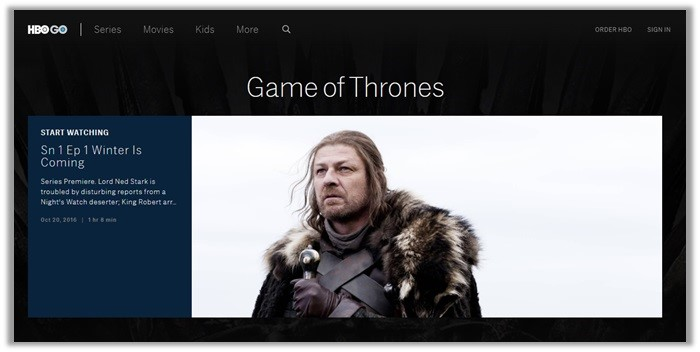 HBO go game of thrones en vivo en línea