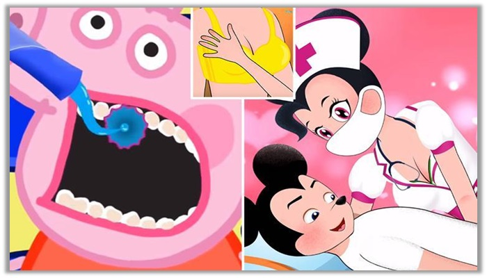 Peppa Pig Dentist และ Mickey Mouse Nudity